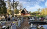 Widok na fragment nowego cmentarza i kaplicę